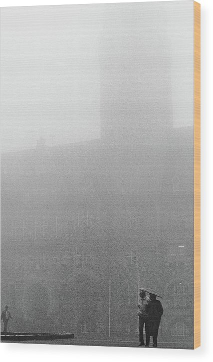 Allemagne Wood Print featuring the photograph On A Rainy Day In My Hometown by Tarek Charara