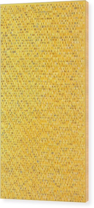 Abstract Pattern Yellow Brown White Pink Grey Wood Print featuring the painting Africa12 by Joan De Bot