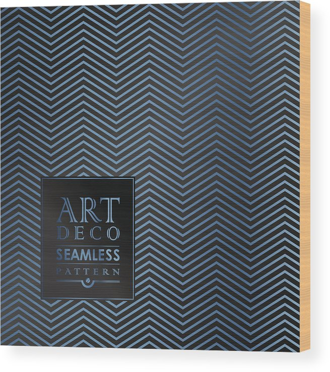 Art Deco Seamless Vintage Wallpaper Pattern Wood Print