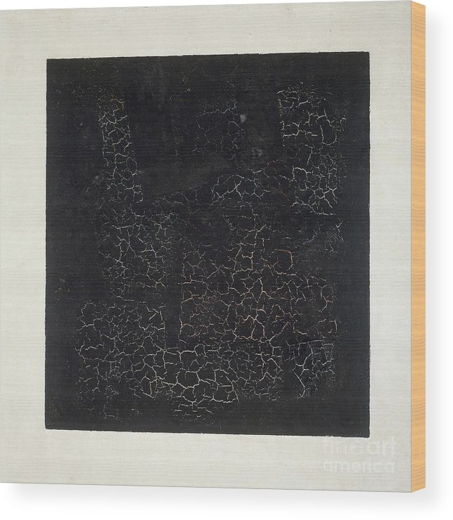 Suprematist; Shape; Abstract; Geometric; Minimalist; Suprematism; Minimalism; Abstract Wood Print featuring the painting Black Square by Kazimir Malevich