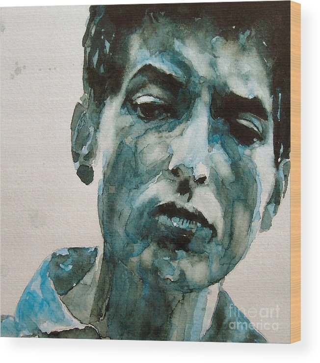 Bob Dylan Wood Print featuring the painting Bob Dylan by Paul Lovering
