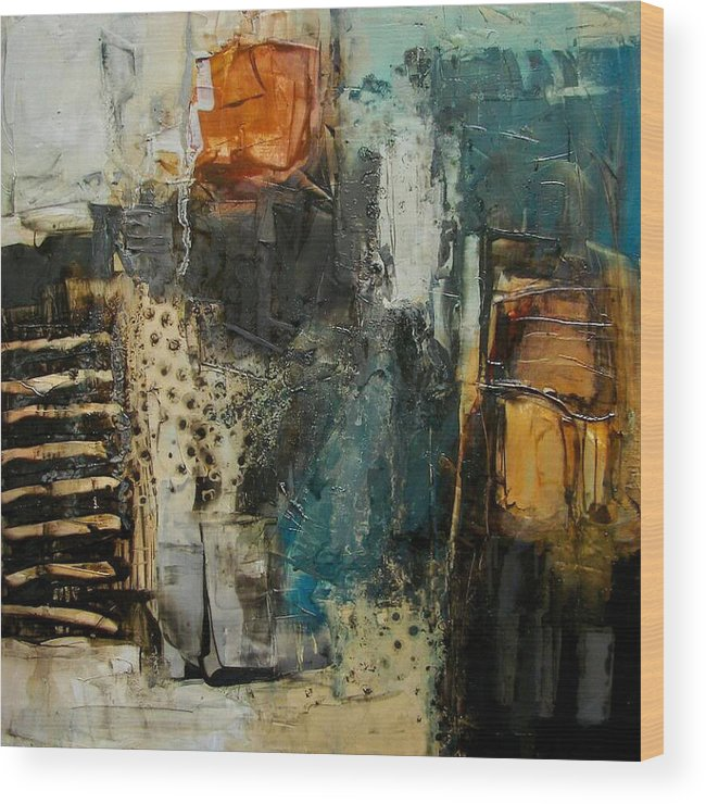 Art Wood Print featuring the painting Bohemiam Style 1 by Colette Davis