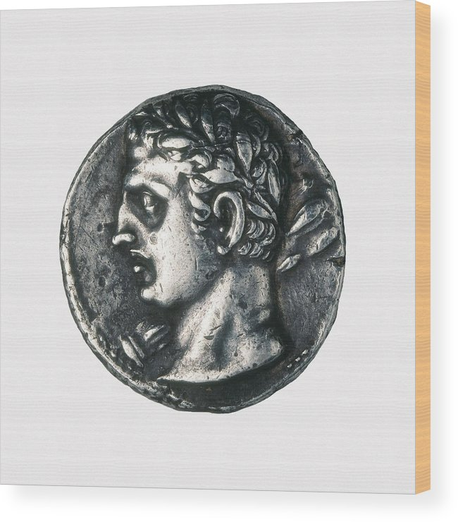 Horizontal Wood Print featuring the photograph Carthaginian Coin. Minted In Spain by Everett