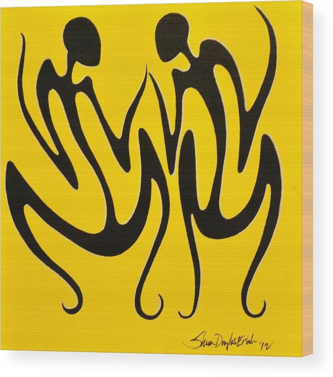 Acrylic Wood Print featuring the painting Dancing In Yellow by Sheen Douglas Eisele