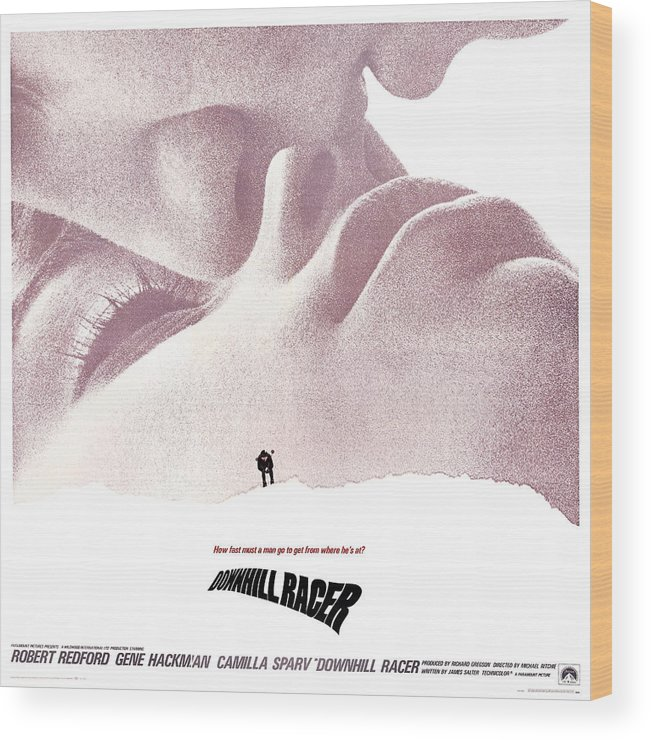 1960s Movies Wood Print featuring the photograph Downhill Racer, Us Poster, Robert by Everett