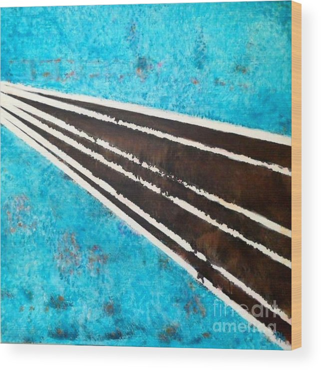 Road Wood Print featuring the painting Making A Way by Daniela Hallgren