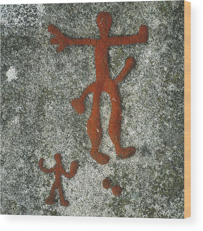 Vertical Wood Print featuring the photograph Norway. Begby. Anthropomorphic Figures by Everett