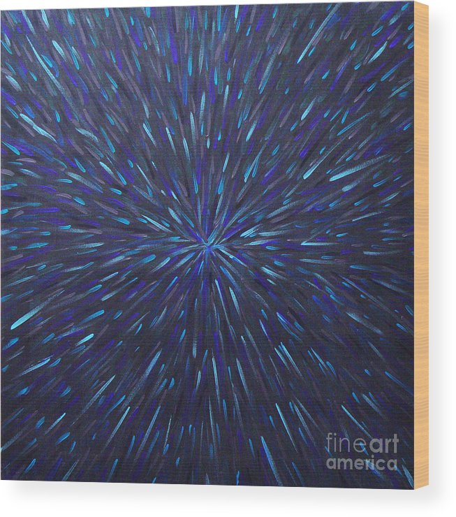 Abstract Wood Print featuring the painting Radiation Grey by Dean Triolo