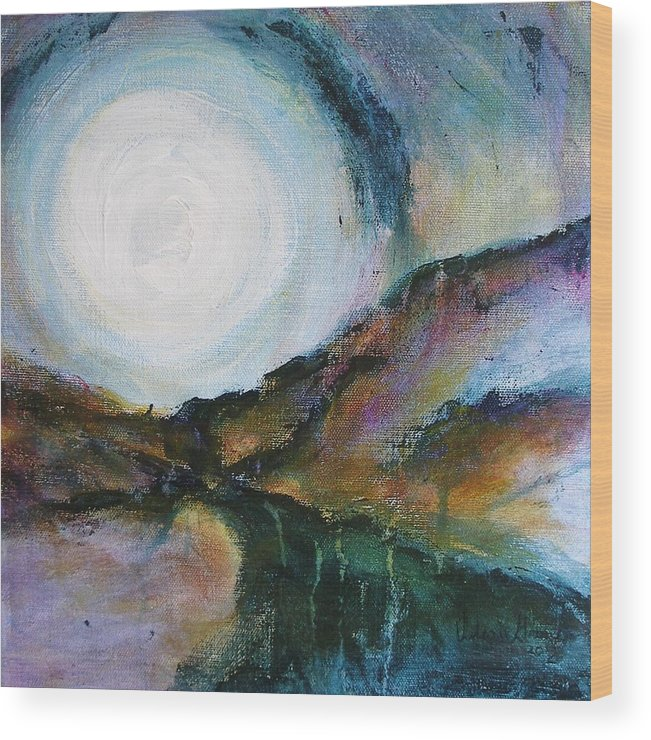 Path Wood Print featuring the painting Seeing The Light by Valerie Greene