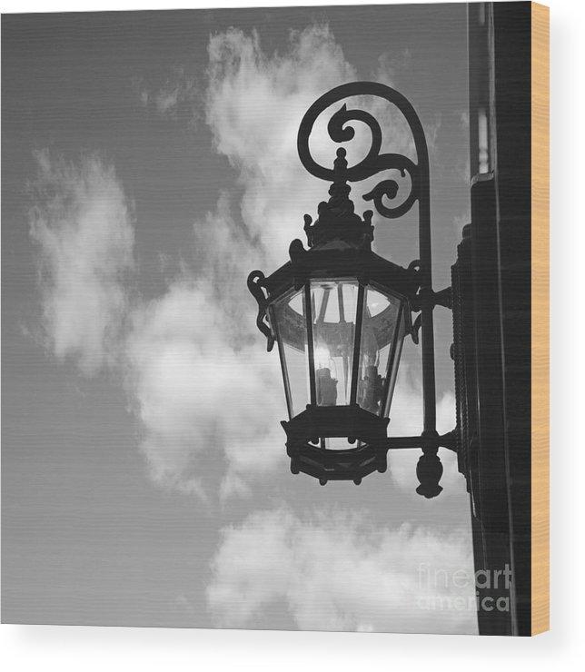 Street Lamp Wood Print featuring the photograph Street Lamp by Tony Cordoza