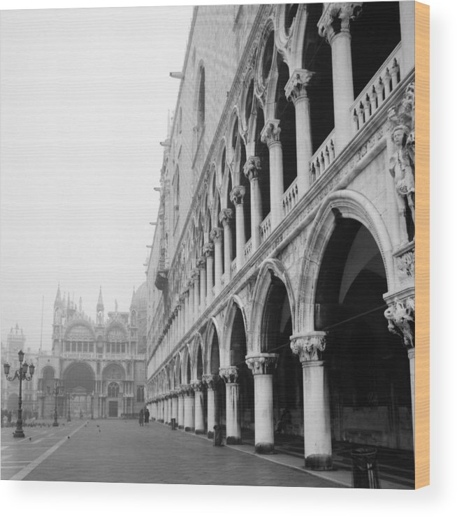 Architecture Wood Print featuring the photograph San Marco Square In Venice by Emanuel Tanjala
