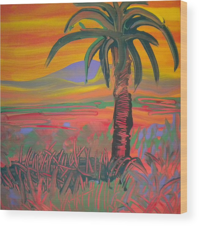 Alzheimer's Wood Print featuring the painting Desert Song By Bill by Art Without Boundaries