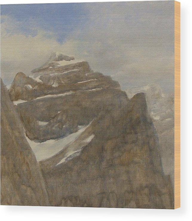 Glacier Wood Print featuring the painting Glacier National Park by Gary Kaemmer