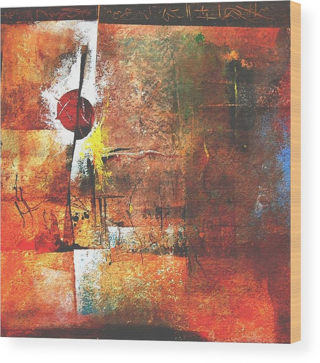 Abstract Wood Print featuring the painting Horoscope Untold by Prakash Sree S N