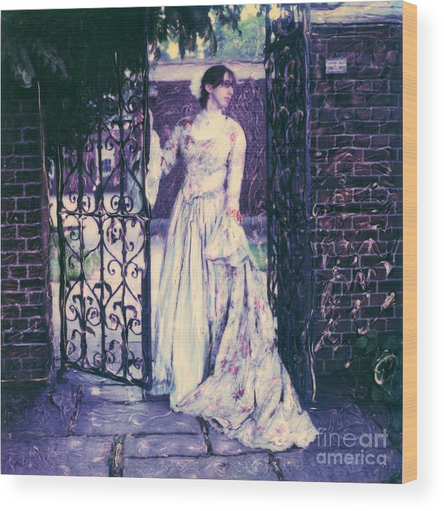Polaroid Wood Print featuring the photograph In The Doorway... by Steven Godfrey