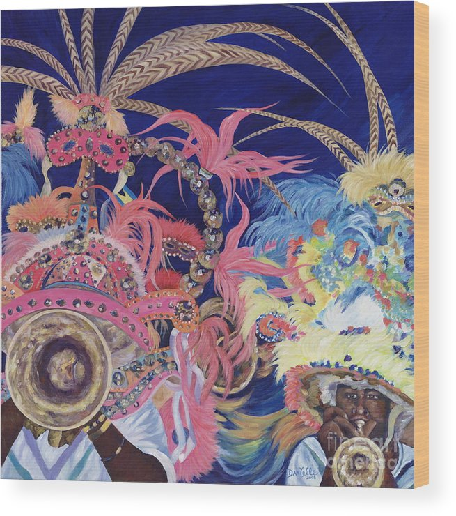 Bahamas Wood Print featuring the painting Junkanoo by Danielle Perry