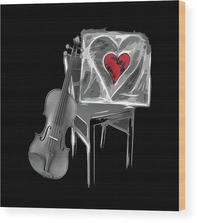 Love Wood Print featuring the photograph Love Melody by Manfred Lutzius