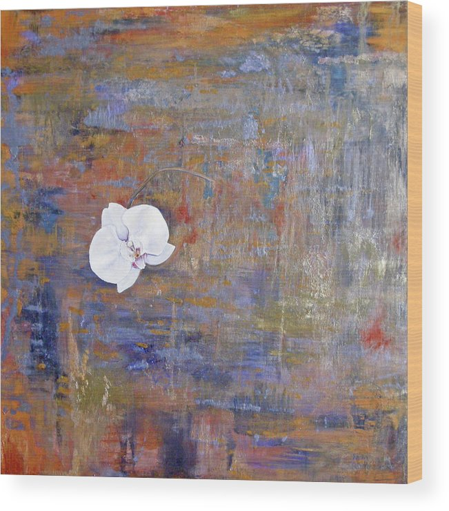 Orchid Wood Print featuring the painting Orchid by Samantha Lockwood
