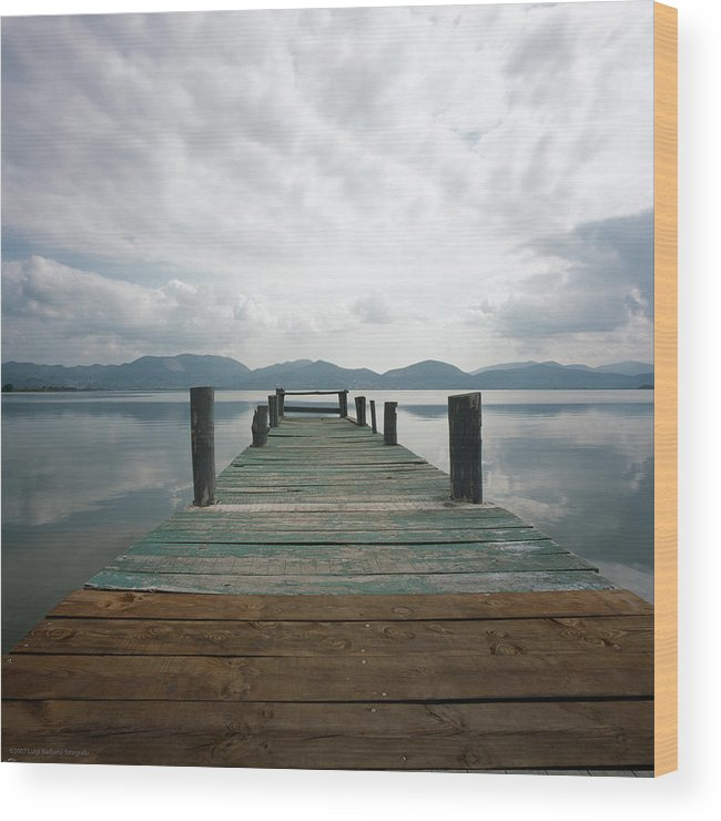 Italy Wood Print featuring the photograph Pier by Luigi Barbano BARBANO LLC