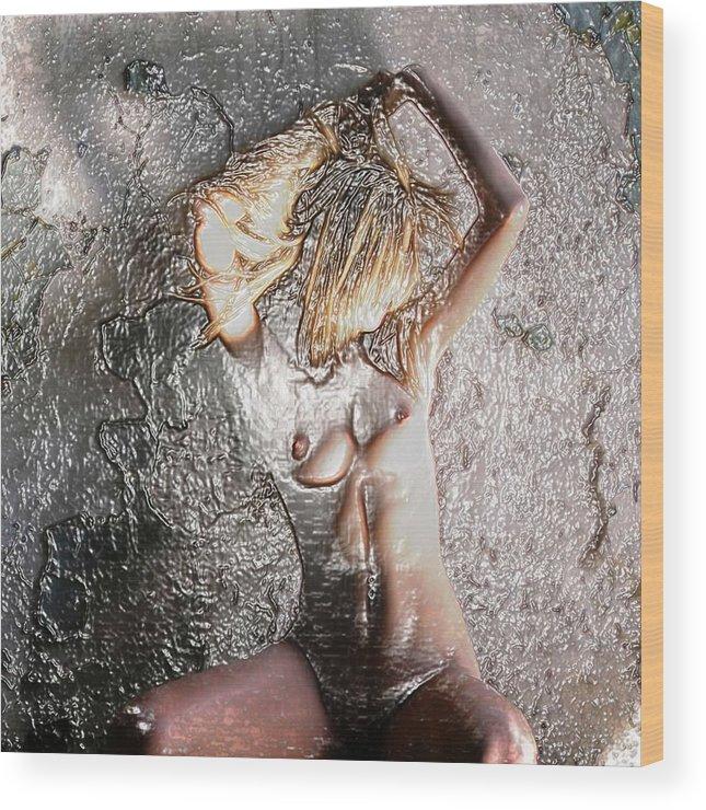 Pietyz Wood Print featuring the digital art Squatting by Piety Dsilva