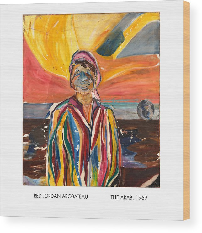 Coat-of-many-colors Wood Print featuring the painting The Arab by Red Jordan Arobateau