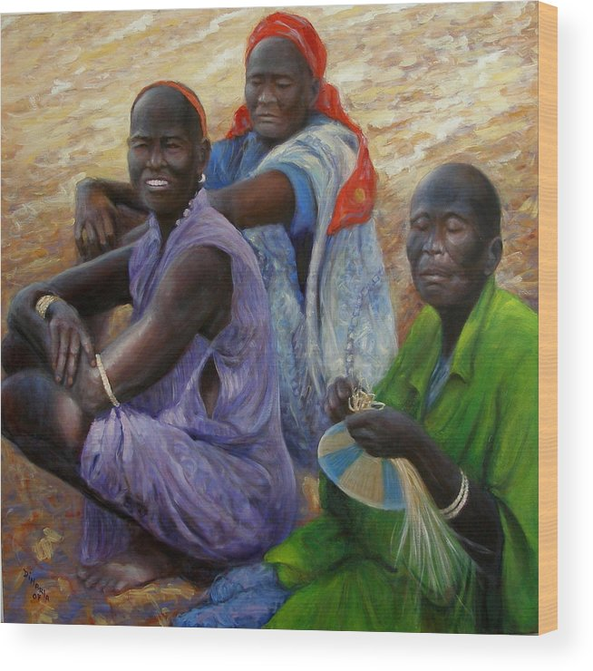 Realism Wood Print featuring the painting Three Graces by Donelli DiMaria