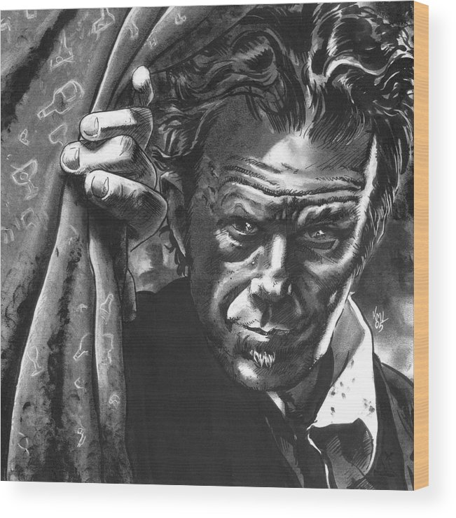 Musicians Wood Print featuring the mixed media Tom Waits by Ken Meyer