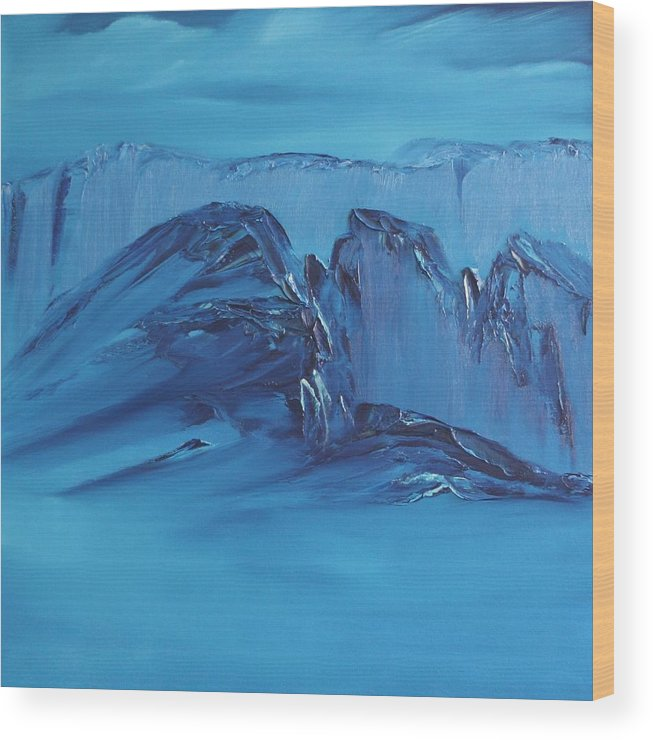 Abstract Expressionism Wood Print featuring the painting Untitled 117 by David Snider