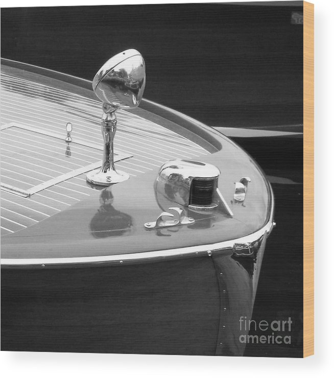 Chris Craft Wood Print featuring the photograph C.c. Utility by Neil Zimmerman