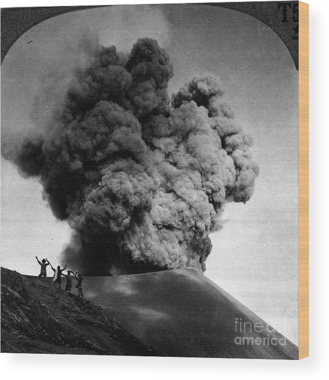 1910 Wood Print featuring the photograph Volcano: Java, 1910 by Granger