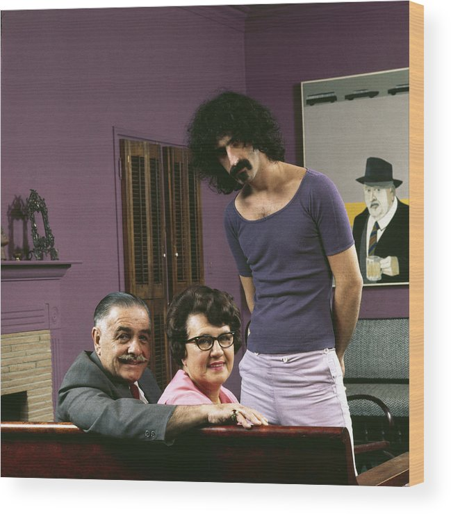 Rock Music Wood Print featuring the photograph Frank Zappa & His Parents by John Olson