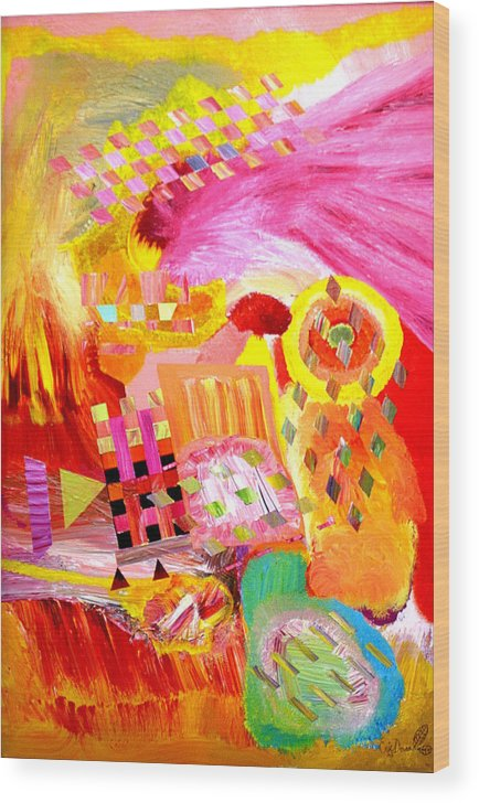 Acrylic Wood Print featuring the painting Fire In My Heart by Eric Devan