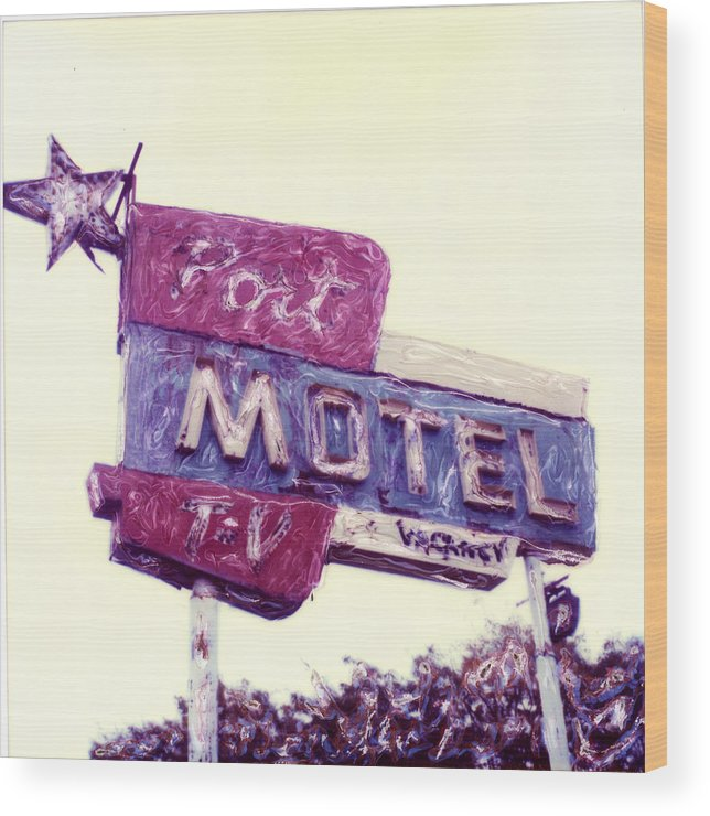 Polaroid Wood Print featuring the photograph Port Motel by Steven Godfrey