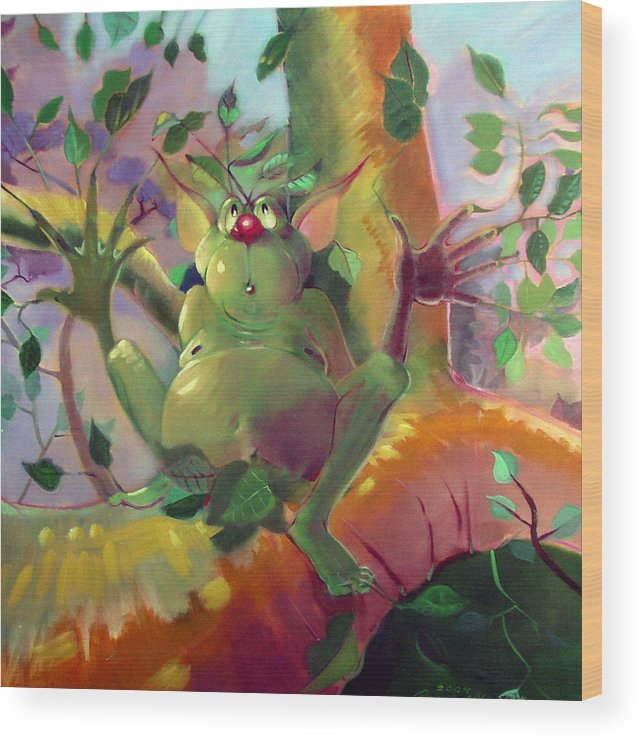 Fantasy Wood Print featuring the painting Treeman by Patrick McClintock