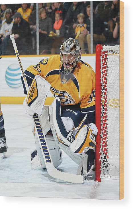 People Wood Print featuring the photograph New Jersey Devils V Nashville Predators by John Russell
