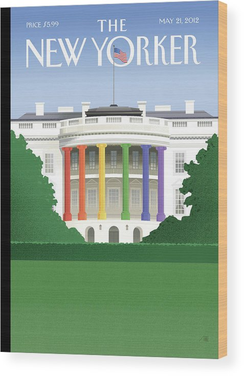President Wood Print featuring the painting Spectrum of Light by Bob Staake