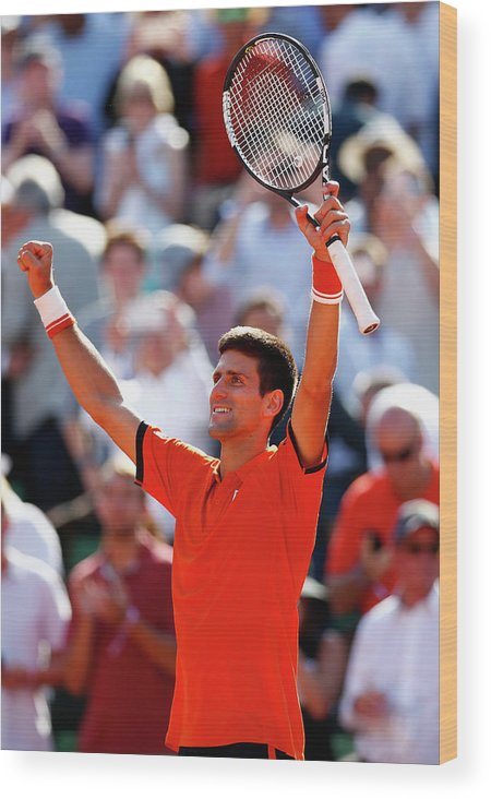 Tennis Wood Print featuring the photograph 2015 French Open - Day Eleven by Julian Finney