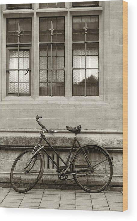 Downtown District Wood Print featuring the photograph Antique English Bicycle by Richlegg
