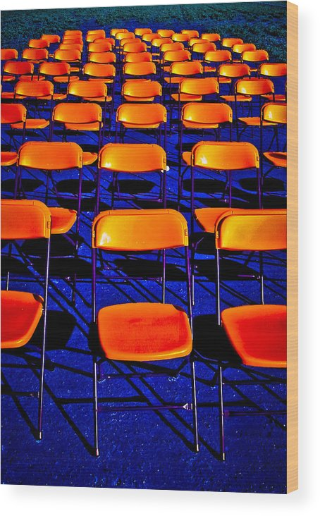 Chairs Wood Print featuring the photograph Awaiting an Audience by Jim Painter