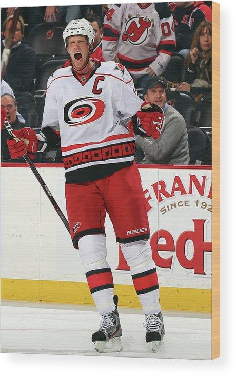 National Hockey League Wood Print featuring the photograph Carolina Hurricanes V New Jersey Devils by Elsa