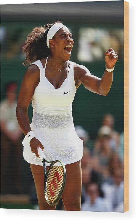 Serena Williams - Tennis Player Wood Print featuring the photograph Day Twelve The Championships - by Julian Finney