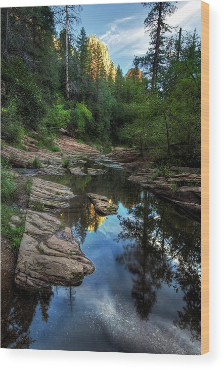 Tranquility Wood Print featuring the photograph Fall Is Right Around The Corner In by Image By Sean Foster