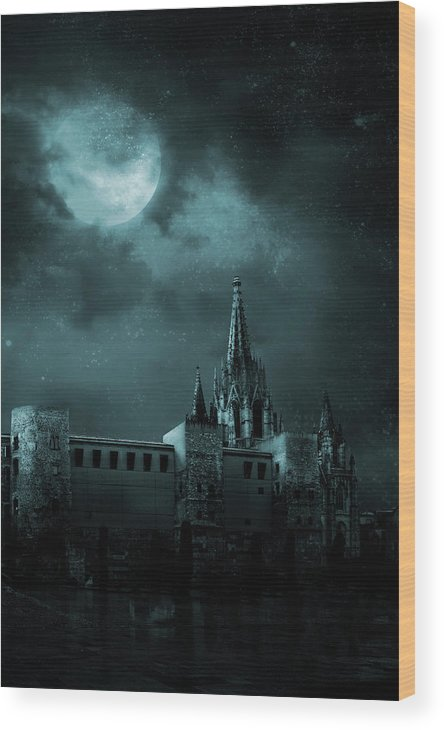 Gothic Style Wood Print featuring the photograph Ghosts In The Empty Town by Vladgans