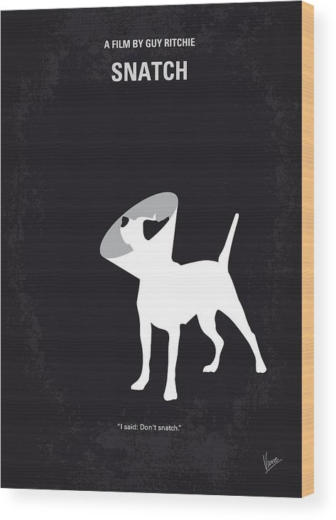 Snatch Wood Print featuring the digital art No079 My Snatch minimal movie poster by Chungkong Art