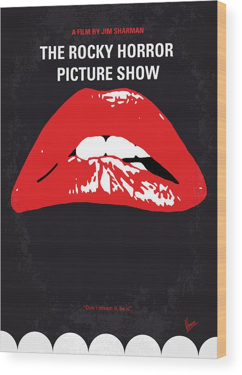 The Wood Print featuring the digital art No153 My The Rocky Horror Picture Show minimal movie poster by Chungkong Art