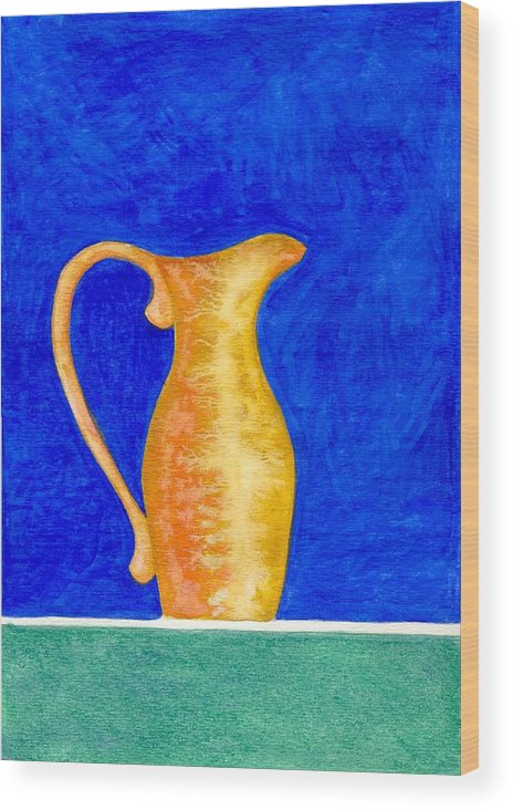 Still Life Wood Print featuring the painting Pitcher 2 by Micah Guenther