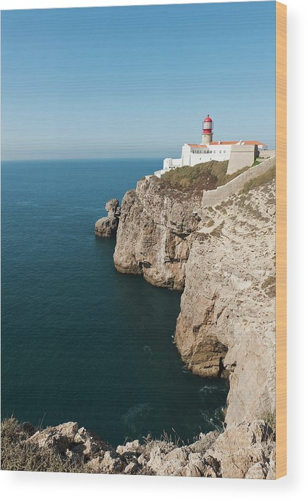 Algarve Wood Print featuring the photograph Portugal, Algarve, Sagres, Lighthouse by Westend61