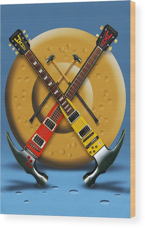Rock And Roll Wood Print featuring the photograph The Hammer by Mike McGlothlen