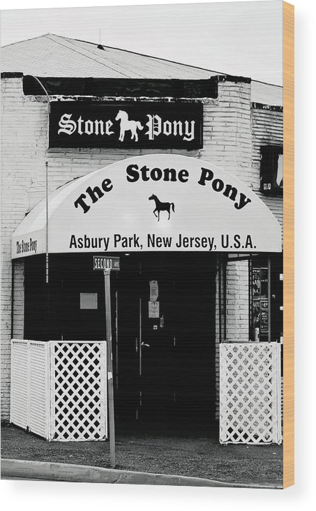 Stone Pony Wood Print featuring the photograph The Stone Pony Asbury Park NJ by Terry DeLuco