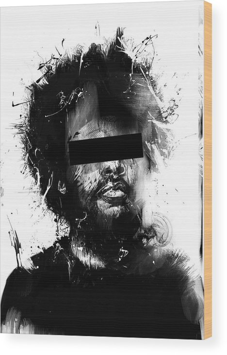 Man Wood Print featuring the mixed media Untitled by Balazs Solti